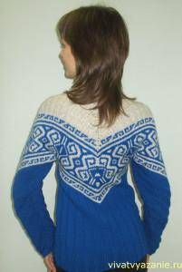 тёплый свитер в норвежском стиле
