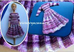 Модное платье для Барби с юбкой плиссе— мастер-класс