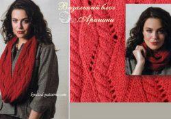 Женский вязаный шарф-хомут от Сэнди Проссер