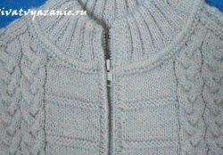 Вшиваем разъёмную молнию в вязаное изделие
