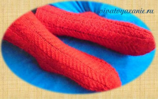 Как связать красивые носки спицами: мастер-класс